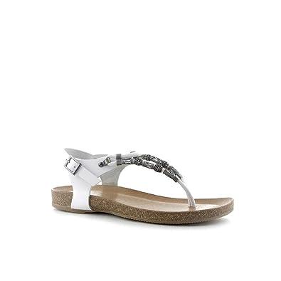 PORRONET Damen Clogs & Pantoletten, Weiß - Weiß - Größe: 37 EU