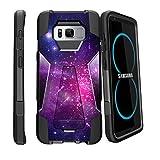 MINITURTLE Case Compatible w/ Samsung Galaxy S8 Plus Case  SM-G955  S8 Plus LG Case Case [SHOCK FUSION] High Impact Hybrid Dual Layer Case w/ Stand - Heavenly Stars