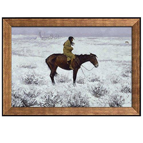 Prospecting for Cattle Range by Frederic Remington Framed Art