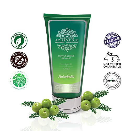 Naturindia Ayurvedic Conditioner for Hair Growth and Regeneration Deep Indian Treatment with ALOE SHIKAKAI and AMLA plants from India For Women and Men 6oz (Best Conditioner For Colored Hair In India)