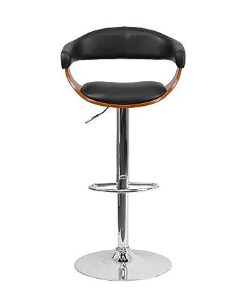 Sensational Amazon Com Offex Ofx 400251 Ff Walnut Bentwood Adjustable Pabps2019 Chair Design Images Pabps2019Com