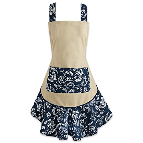DII 100% Cotton, Fashion Floral Ruffle Ladies Women Apron, K