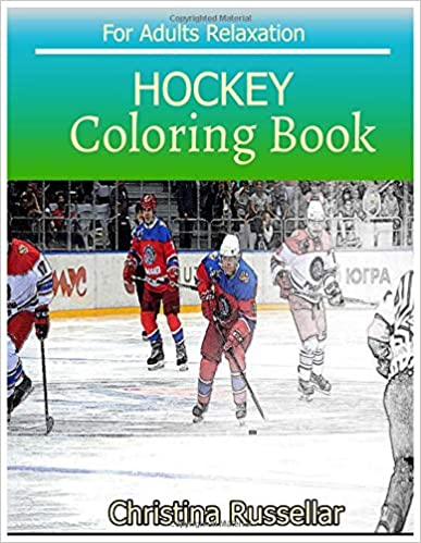 Amazon.com: HOCKEY Coloring Book For Adults Relaxation ...