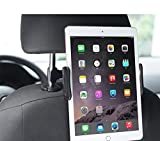 Meer 360 Degree Adjustable Rotating Headrest Car Seat Mount Holder for Phone/iPad Mini/2/3/4, iPad Air, Samsung Galaxy Tab, Tab Pro and other 4 -11 Inches Tablets