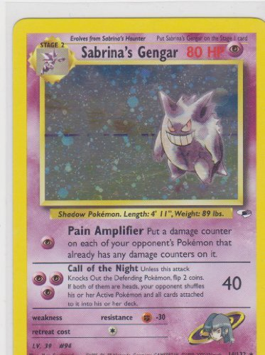 Pokemon Card - Gym Heroes 14/132 - SABRINA'S GENGAR - Pokemon Heroes Gym