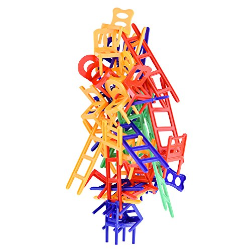 WEofferwhatYOUwant Chairs and Ladders Suspend Family Game - Stacking Balance Game. 44 Individual Pieces. from WEofferwhatYOUwant
