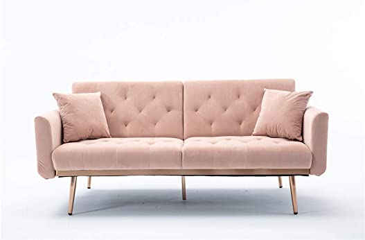 Button Velvet Sofa