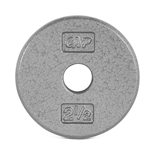 CAP Barbell Standard Free Weight Plate, 1-Inch, 2.5-Pound, Gray