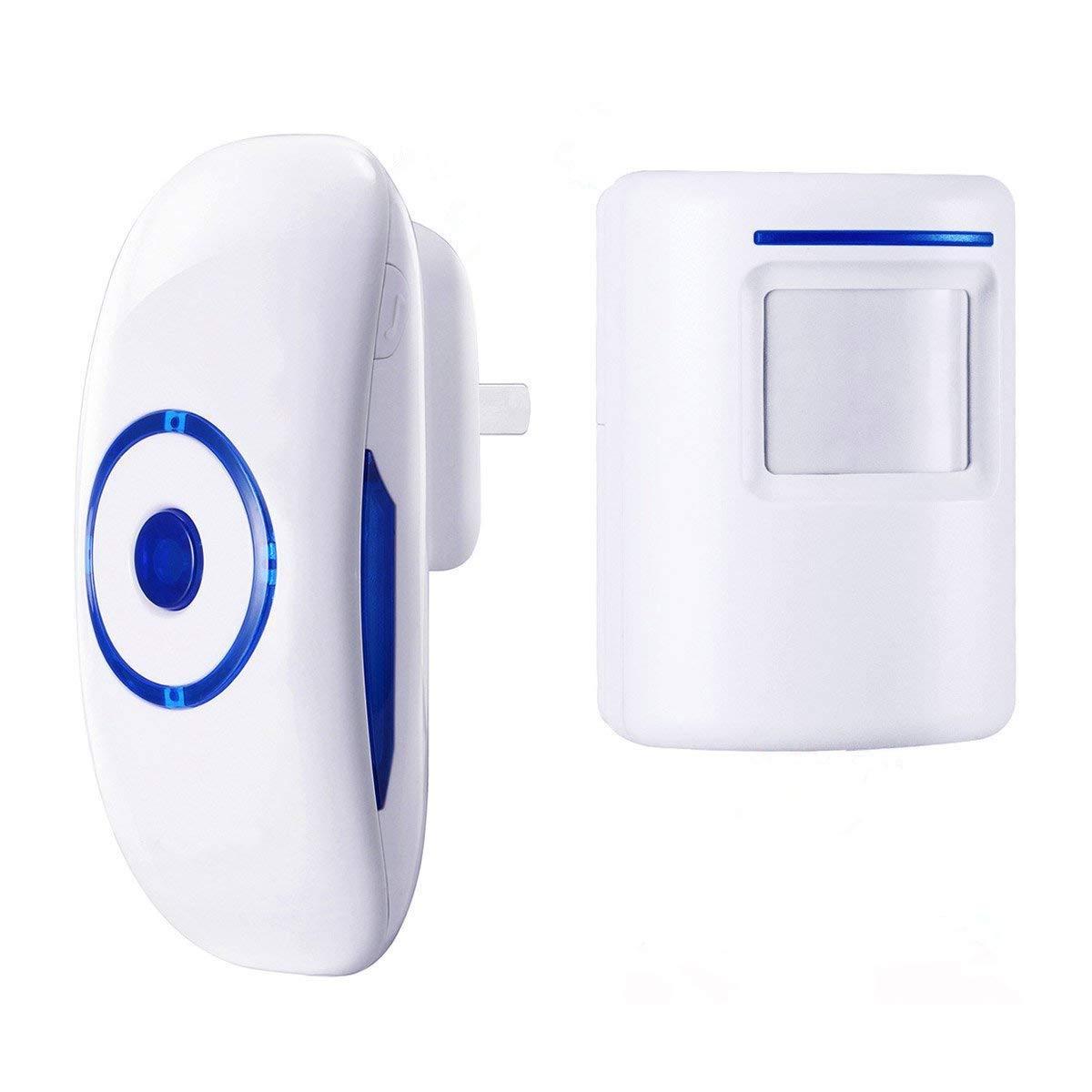ESPOW Doorbell Chime, Wireless doorbell,Motion Sensor Detector Door Bell 36 Chime Tunes with 1000 Feet Operating Range, 1 Plug-in Receiver, 1 Magnetic Door Chime Sensor