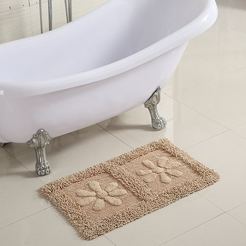 Cotton bathroom water-absorbing mats household mats non-slip door mat bathroom mat -5080cm w by ZYZX