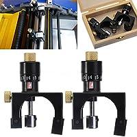 Nrpfell 2X verstellbares Hobelmesser Cutter Kalibrator Einstelllehre Messger?t Holzbearbeitung Werkzeug