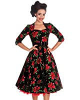 Hell Bunny 50's Eternity Floral Vintage Dress Black