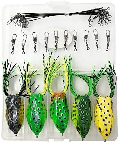 6pcs Soft Frog Fishing Baits Lures Bass Baits Fish Tackle Crankbaits 5.5cm//5g