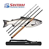 "Santiam Fishing Rods 4 Piece 8'6"" 15-30lb MF Graphite Travel Spinning Rod Review"