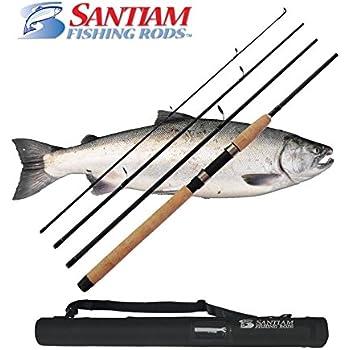 Santiam Fishing Rods 4 Piece 8'6'' 15-30lb MF Graphite Travel Spinning Rod