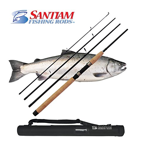 - Santiam Fishing Rods 4 Piece 8'6'' 15-30lb MF Graphite Travel Spinning Rod