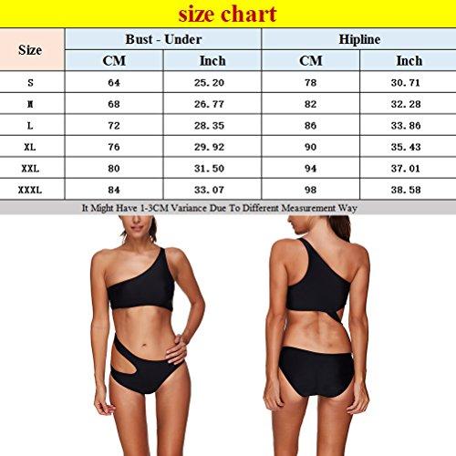 Zhhlaixing Women's Black Push Up Bikini Sets Two Piece Padded Swimsuit Beachwear Bathing Suit LS1404 Black