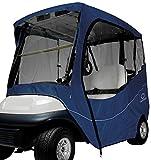 Classic Accessories Fairway Golf Cart Travel Enclosure, Navy, Short Roof