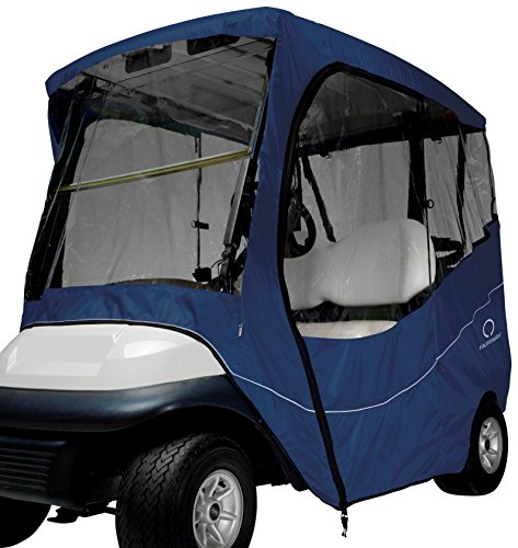 Classic Accessories Fairway Golf Cart Travel Enclosure, Navy