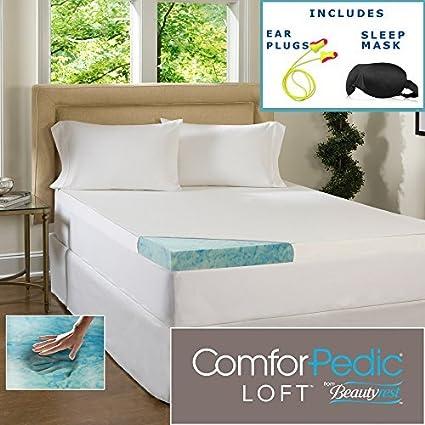 Beautyrest 7,62 cm Gel memoria colchón de espuma Topper y resistente al agua –