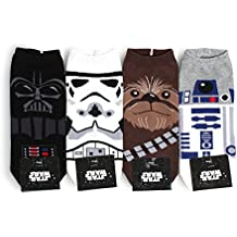 Star Wars Socks Collection Men and Women Socks (Men's Lowcut(NIA) 4pairs), One Size Fits all Men's 8.5 - 11(Women's 6-8.5)