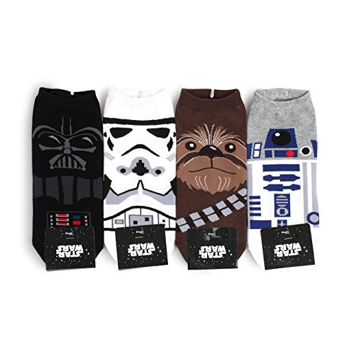 Star Wars Socks Collection Men and Women Socks (Men's Lowcut(NIA) 4pairs), One Size Fits all Men's 8.5 - 11(Women's 6-8.5) from Intype