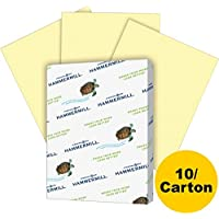 Hammermill Fore MP Recycled Colored Paper, 20lb, 8-1-2 x 11, Canary, 5000 Sheets-Carton
