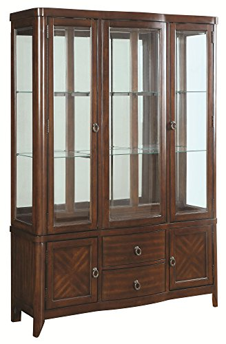 Coaster Louanna Buffet with Hutch in Cherry