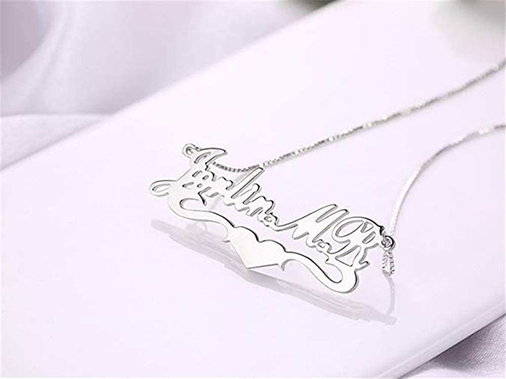 FACOCO Personalized Name Custom Necklace Pendant Necklace Custom Any Name mom Gift
