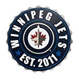 Winnipeg Jets Bottle Cap Wall Logo