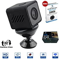 Pom Premium WIFI 360° Adjustable Hidden Camera with 720P HD, Night Vision, Motion Detection, Loop Recording, Supports Up To 64GB SD Card Capacity + FREE eBook
