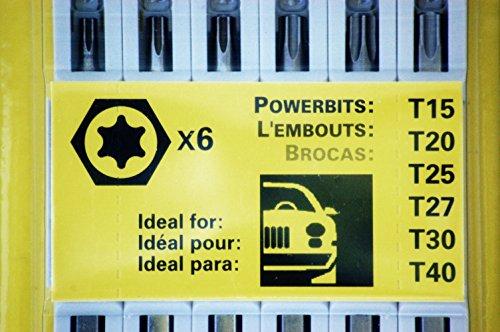 Torx set T15, T20, T25, T27, T30, T40 - 95003