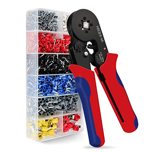 Ferrules Crimping Tool Kit, Wieprima Crimping Tool Plier Tool Kit Set Wire 1200PCS Wire Terminals Crimping Connectors…