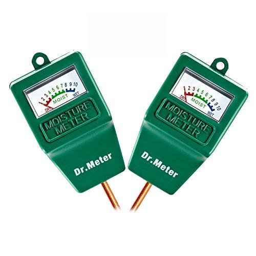 [2pack Soil Moisture Meter ] Dr.meter Hygrometer Moisture Sensor Meter for Garden, Farm, Lawn Plants Indoor & Outdoor(No Battery needed) (Specialists Moisture)
