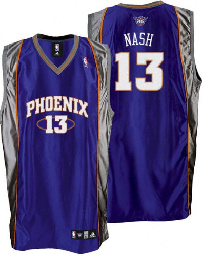 premium selection d80d2 75c73 Amazon.com : Steve Nash Purple adidas NBA Authentic Phoenix ...