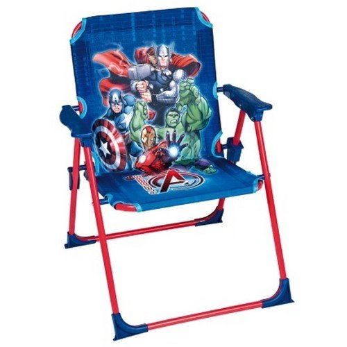 Kids Garden Chair Comfortable With A Safety Lock and Suitable For Both Indoors and Outdoors/Children Garden Decor/Children Flashy Chair With Cartoon Character Designs (marvel Avengers) DISNEY
