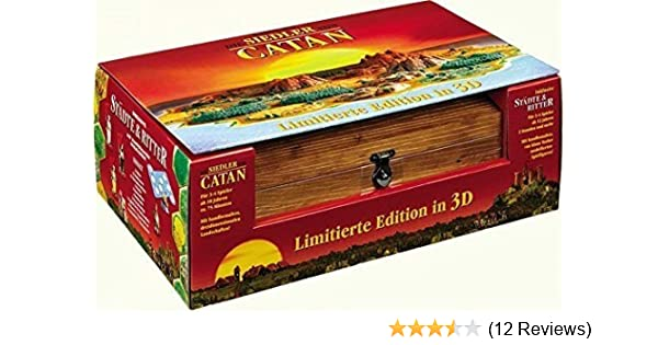 Amazoncom Settlers Of Catan 10th Anniversary 3 D Special Edition