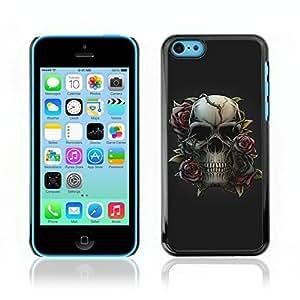 Carcasa Funda Case // V0000500 Skull and Rose // Apple iPhone 5C