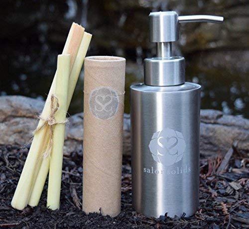 Handmade Shampoo- Eco-Friendly - Plant Based- Organic Oils Essential - No Sulfates/Gluten/Silicones/GMOs/Cruelty Free - 100% Biodegradable - salonsolids