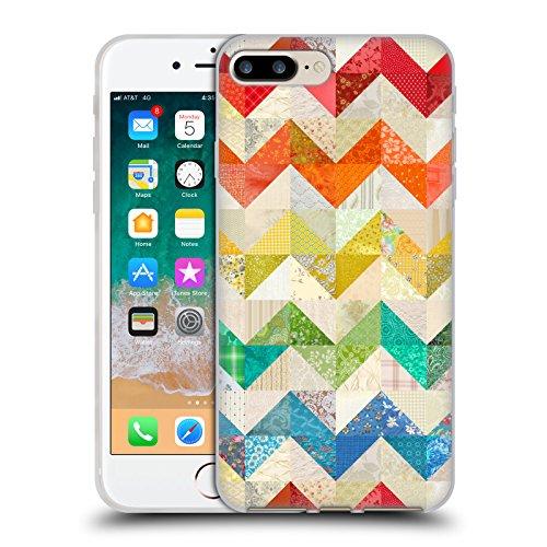 Official Rachel Caldwell Chevron Quilt Patterns Soft Gel Case for iPhone 7 Plus/iPhone 8 Plus