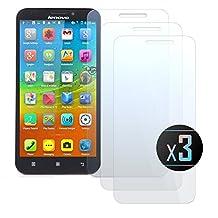 3 x Lenovo A916 Screen Protector, NEVEQ Premium Tempered Glass Screen Protector for Lenovo A916 (5.5 in) Display.