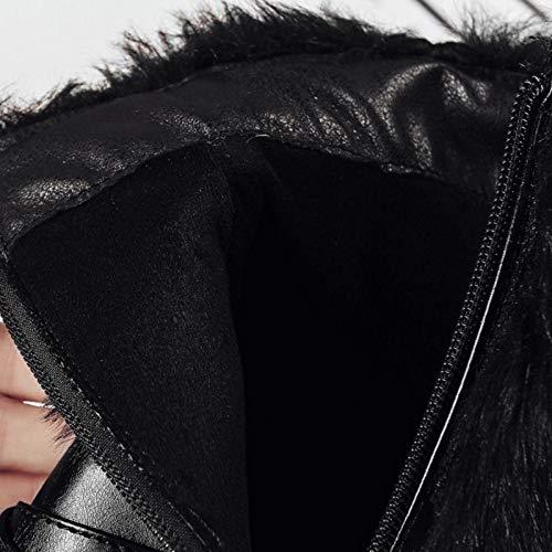 Pointu Hiver Femmes Noir Mode Bottines Bout Taoffen Boots FHqpBw