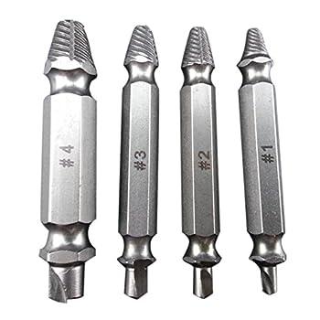 breakage screw Extractor - TOOGOO(R)4 pcs Remove the screw breakage