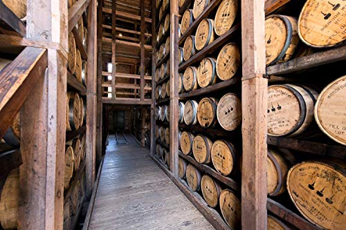 Fine Art Print of Woodford Reserve Bourbon Barrels, Various Print and Canvas Sizes, Kentucky Bourbon and Whiskey Photography, Great for Bar, Pub, and Man Cave Decor, Gifts for Him
