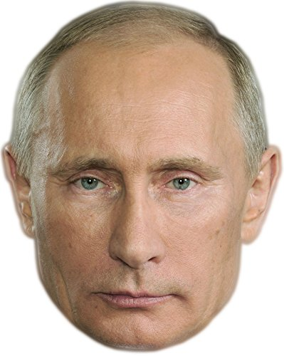 Celebrity Cutouts Vladimir Putin Mask, Cardboard Face and Fancy Dress Mask -