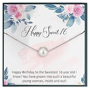 Sweet 16 Swarovski Pearl Necklace
