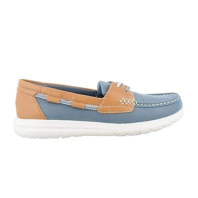 ff0eedf4d11c CLARKS Jocolin Vista Womens Boat Shoes Blue Grey 7 W  Amazon.co.uk  Shoes    Bags