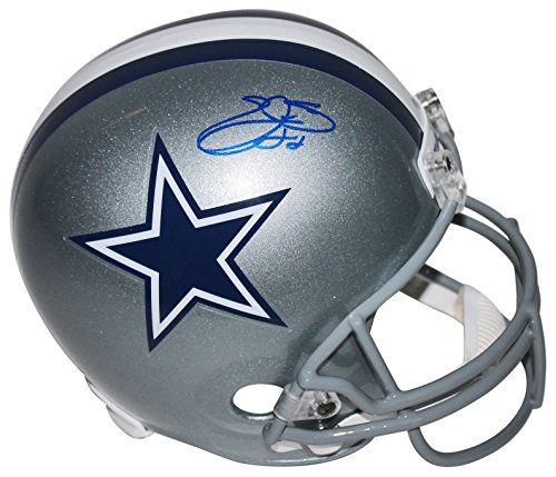 Cowboys Emmitt Smith Authentic Signed Full Size Rep Helmet BAS Witnessed