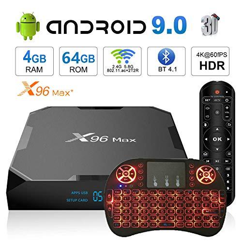 Android TV Box 9.0 X96 Max+ Smart TV Box Amlogic S905X2 Quad Core 4GB 64GB Support USB 2.4G WiFi BT 1000M 4K Media…