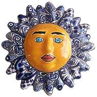 Fine Crafts Imports Blue Talavera Ceramic Sun Face